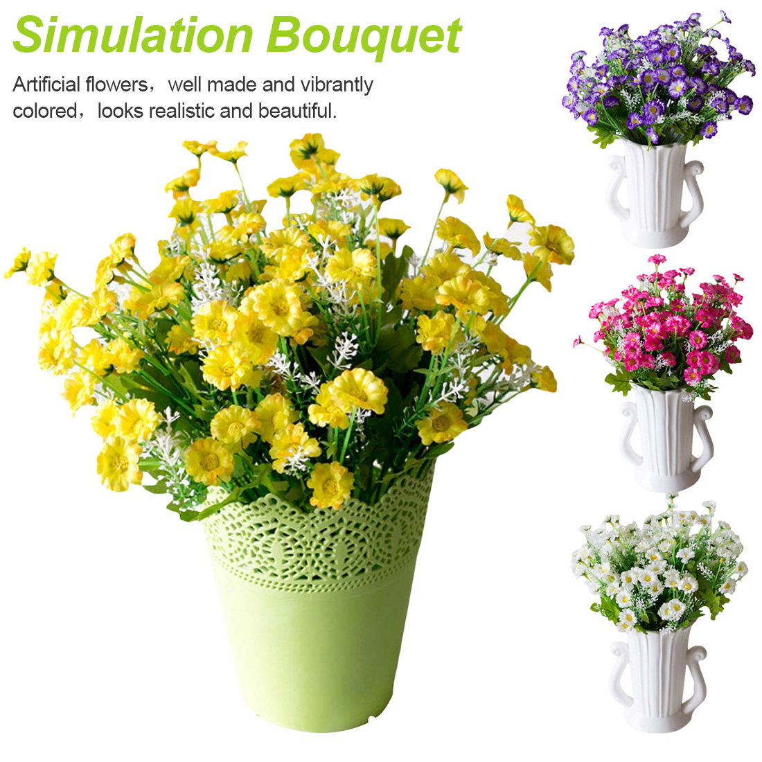 Spring Daisy Flowers28 Small Daisy Flower Small Daisies Home Decoration Living Room Display Silk Flower Artificial Flowers