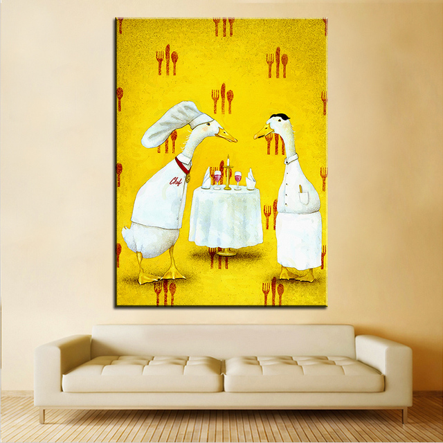 Large size Printing Oil Painting le bistro Wall painting Wall Art ...