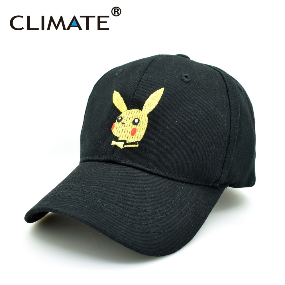 CLIMATE 2017 Pocket Monster GO Pikachu Baseball Caps Game Cute Lovely PIKABOY Bow Tie Pikachu Unisex Adjustable Adult Hat Cap pokemon go baseball cap pocket pokemon game theme led optical cap pocket monster luminous hat m203