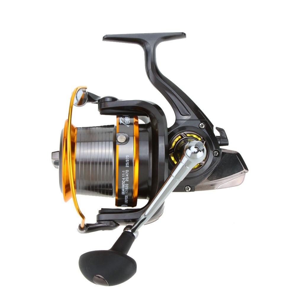 Carp Fishing Reel Spinning Reel 4.11:1 Metal Fishing Wheel 12+1BB 13 Ball LJ3000-9000 Bearings Sea Fishing Reels Tools Pesca