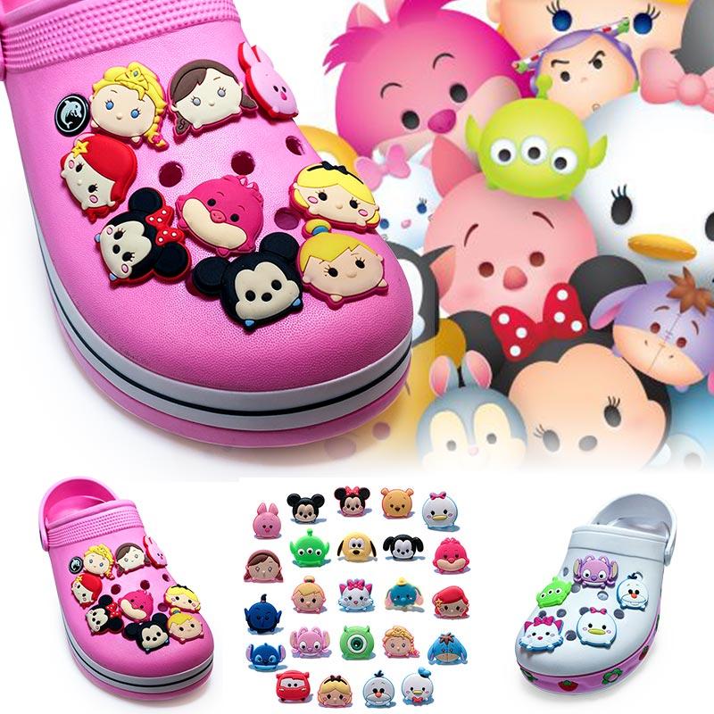 120pcs Tsum Tsum PVC shoe charms shoe accessories shoe decoration for croc jibz kids gift Kids Gift фигурка коллекционная tsum tsum