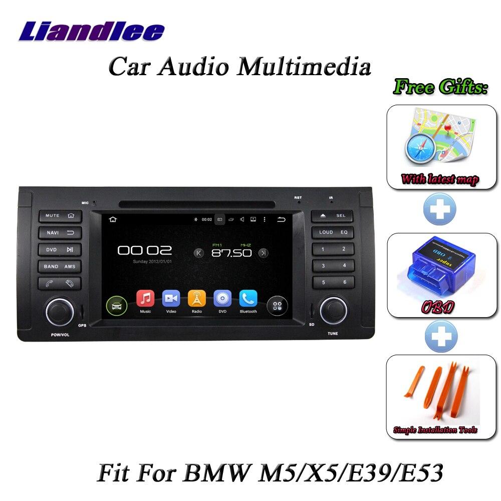 Liandlee Voiture Système Android Pour BMW M5/X5/E39/E53 Radio CD Lecteur DVD GPS Navi CARTE navigation HD BT TV Écran Multimédia