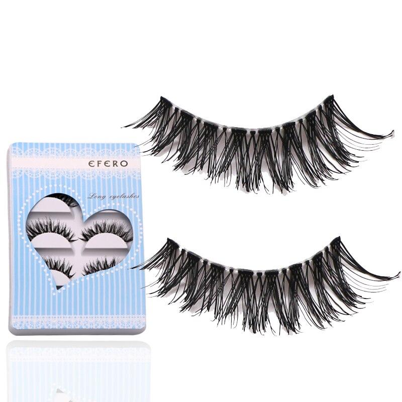 15 Pairs Natural Black Long Cross False Eyelashes Fake Eye Lashes Extensions Full Strip Eye Lashes Thick Eyelashes Makeup Tools