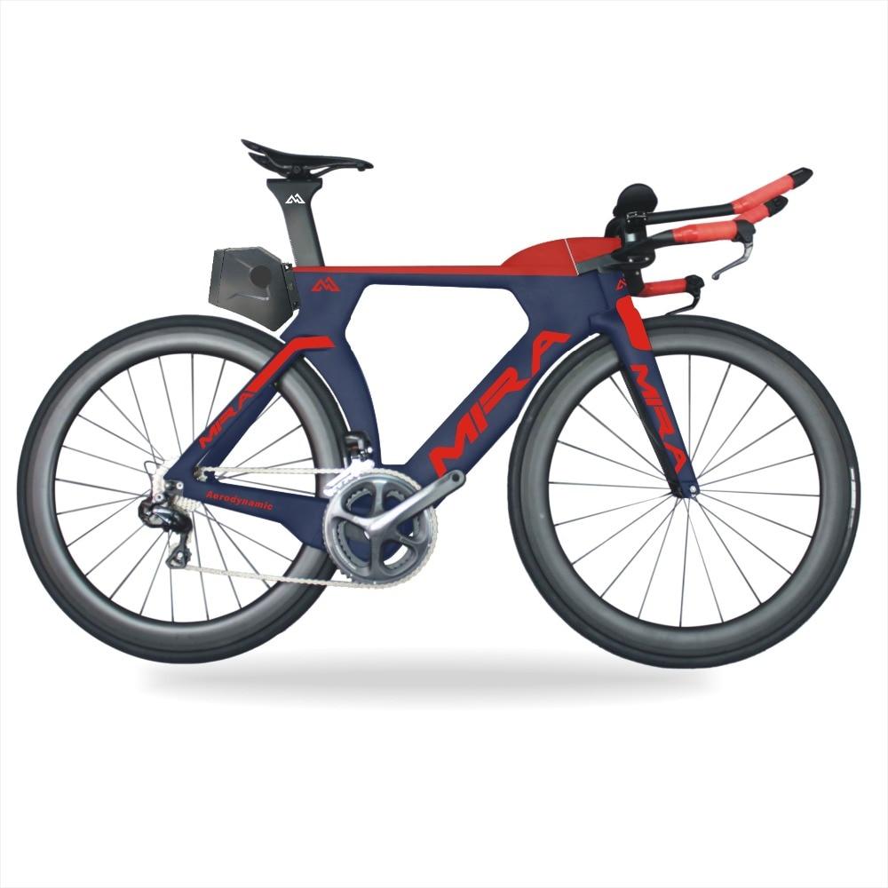2018 MIRACOLO bicicletas Bici del TT del Carbonio con Ultegra R8060 Di2 TT pieno Gruppo 700x25c bici Completa triathlon del Carbonio della bici