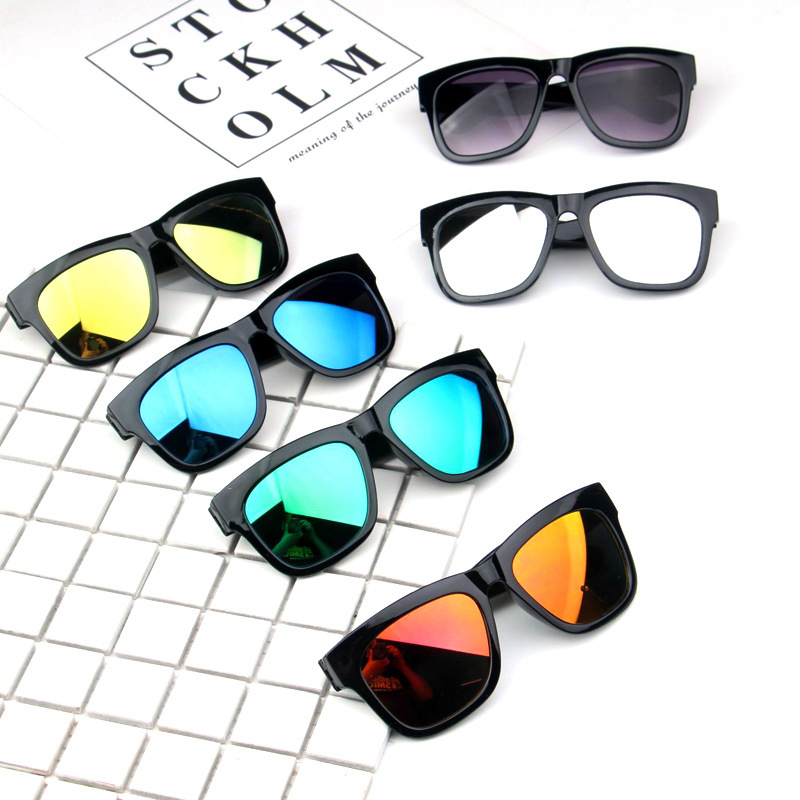 Kids Sunglasses Shades Stylish Goggles Party Girl Baby Children Eyewear Square UV400