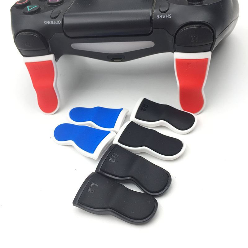 Plastic Rubber Bent L2 R2 Extended Triggers Buttons For PlayStation 4 PS4 Dualshock Game Controller Trigger Extender