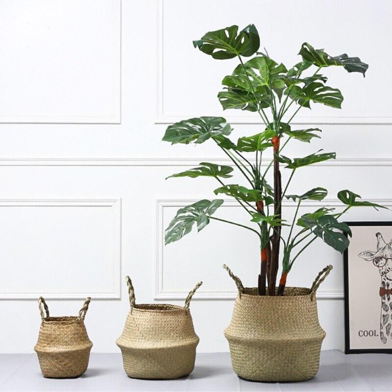 HTB1y4Wxnf5TBuNjSspcq6znGFXai - Flower pot planter Home Garden Seagrass Wickerwork Basket