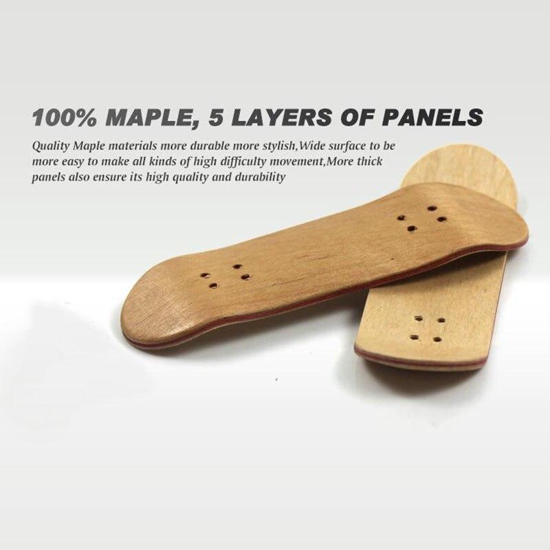 Wooden Fingerboard Professional Finger SkateBoard Wood Basic Fingerboars With Bearings Wheel Foam Tape Set