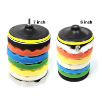 Wholesale 8PCS A Set 7 Inches 8 Inches Choice Multi Color Sanding Sponge Self Adhesive Wave