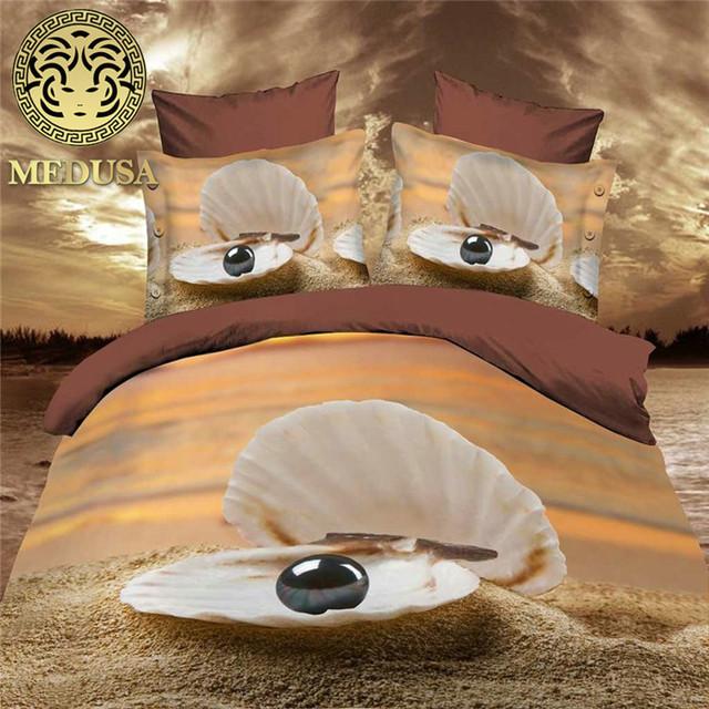 Medusa 3d dolphin digital bedding set duvet/doona cover bed sheet pillow cases 4pcs queen size bed linen set