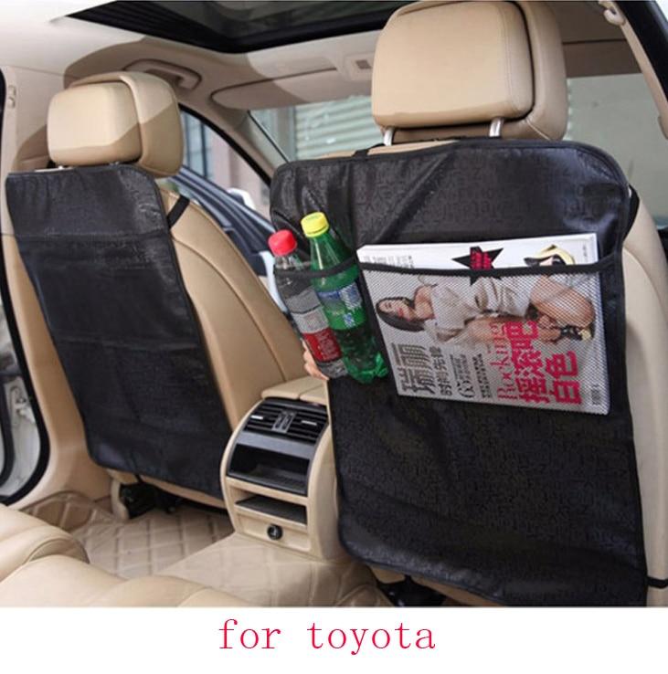 for toyota corolla avensis camry yaris rav4 car seat covers Children Kick protector mat Seat Back Clean black beige waterproof