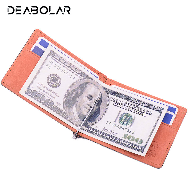 New Arrival! Dollar Money Clip Men PU Leather Wallets Male Metal Solid Credit Dollar Wallet Money Holder Clip Purse for Men top hot sale men s wallets purse for coins money clip clutch portfolio dollar price luxury constructor genuine leather bog ea307