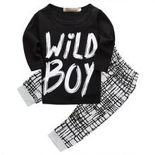 Spring Autumn Newborn Infant Baby Boys Warm Long Sleeve Cotton T-shirt Tops+Pants Leggings 2pcs Clothes Outfits Set