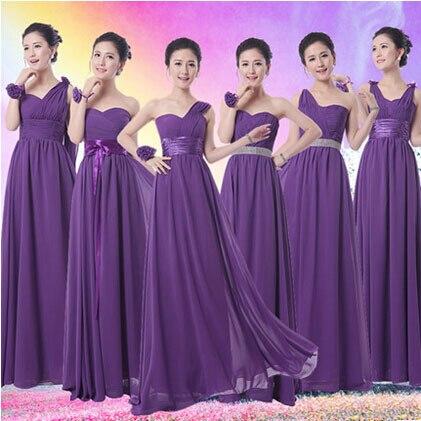 a009d0c34c Parte de color morado oscuro de dama de honor vestidos de largo más el  tamaño de partido de las mujeres xxxl 18 w vestidos para la ocasión de la  boda del ...