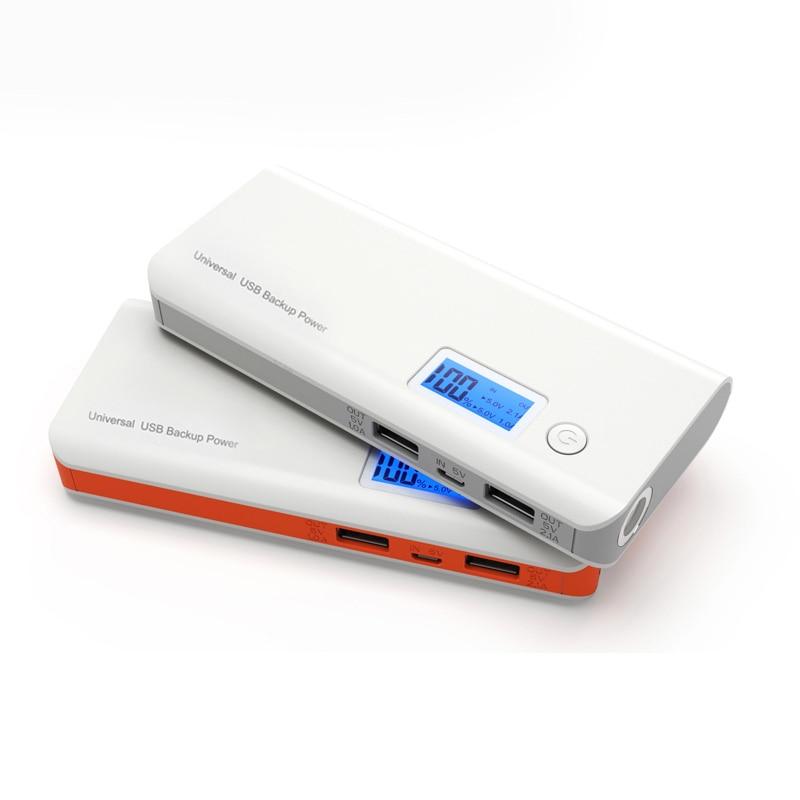 imágenes para Bienes 20000 mAh Dual Display LCD USB Batería de Reserva Externa banco de la energía para el teléfono inteligente dispositivo