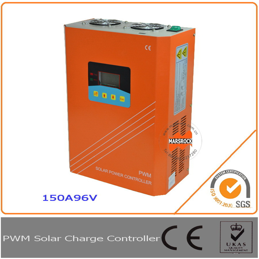 150A 96V solar charge controller, regulator with RS232 for Communication and LCD display with fan cooling, approved by CE, ROSH150A 96V solar charge controller, regulator with RS232 for Communication and LCD display with fan cooling, approved by CE, ROSH