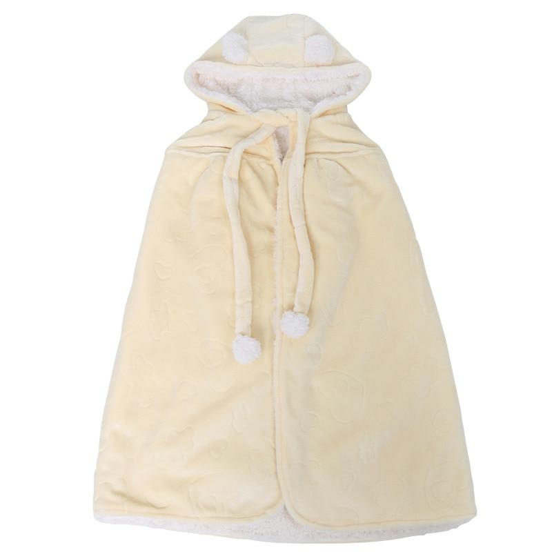 Baby Neonatal Hold Flannel Blanket Toddlers Infant Envelope Hooded Blanket Swaddling Baby bath towel Newborns Bathrobe