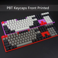PBT Front/Side Printed Keycaps 108 Keyset Cherry MX Key Caps With Keycaps Holder For MX Switches 87/104/108 Mechanical Keyboard