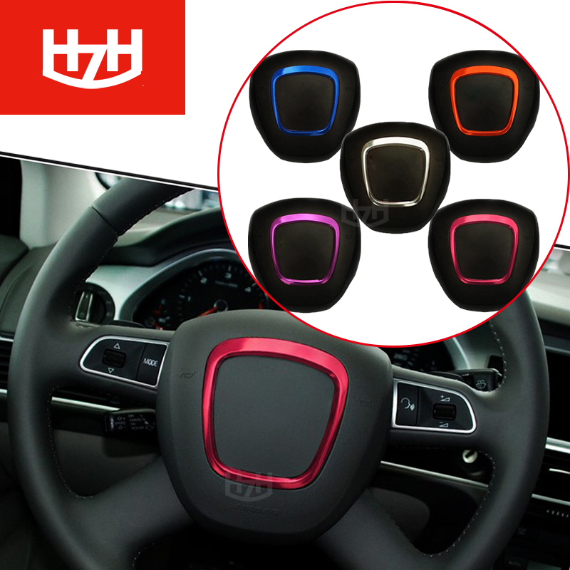 DIY Car Steering Wheel Covers Stainless Steel Circle Sequins 3D Stickers For Audi A3 A4 A5 A6 A8 Q7 Q5 Automobiles car styling free ship turbo k03 29 53039700029 53039880029 058145703j n058145703c for audi a4 a6 vw passat 1 8t amg awm atw aug bfb aeb 1 8l