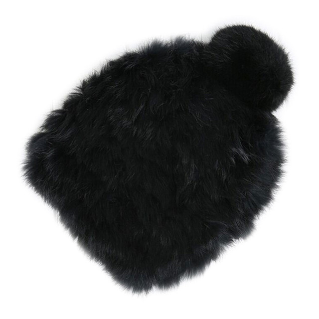 Womens Pom Pom Hat Faux Fur Beanies Cap 2018 Warm Winter Ladies Fluffy Rabbit Fur Hats Caps Gorro Female Skullies Bonnet Femme