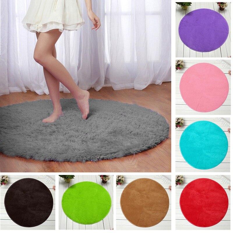 lowest price fluffy round foam shaggy rug anti sli