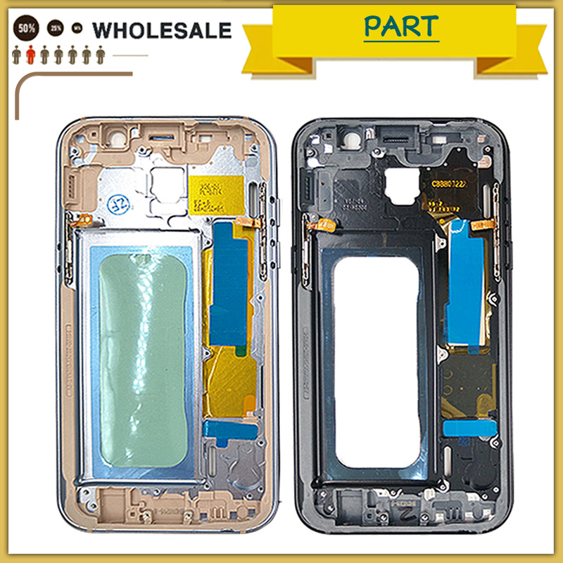 New Middle Frame Bezel for Samsung Galaxy A3 A5 A7 A320 A520 A720 2017 Version Mid Chassis Metal Frame Housing Replacement Parts
