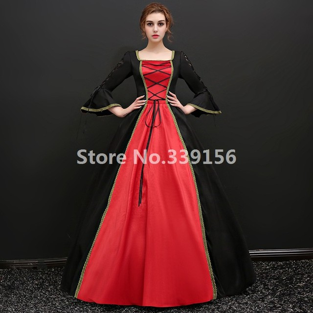 6bb17e2791c15 Medieval Masquerade Dresses Halloween Carnivale Vampire Dresses Gothic  Victorian Ball Gowns