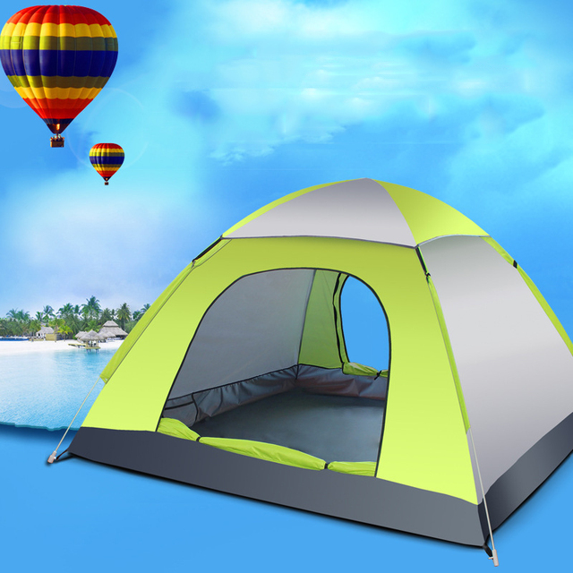 2KG C&ing Tents UV Silver Tape 3 Person Double Layered Fiberglass Rod C&ing Tent 4 Season : tent tape - memphite.com
