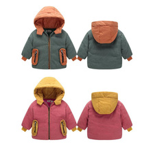 2019 Fashion Boys Jackets Outerwear For Girls Coats Winter Children Warm Thick Hooded Jacket Autumn Baby Kids Clothing Outerwear
