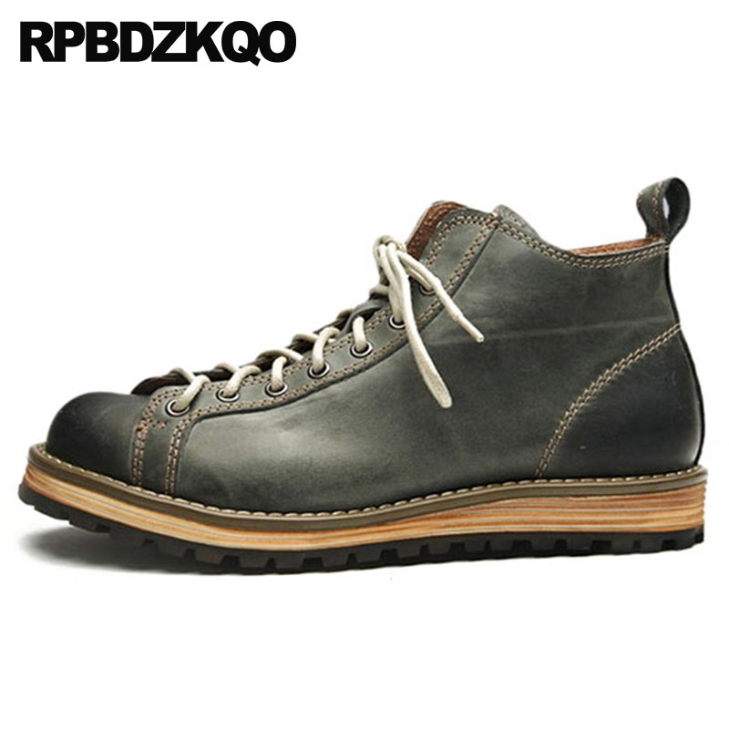 High Top Flat Green Casual Full Grain Leather Sneakers Warm Trainer Autumn Boots Designer Shoes Men Quality Winter Wedge Fur