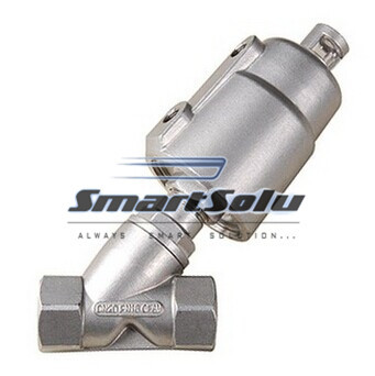 цена на free shipping 2pcs/lots DN15 1/2'' Pneumatic full Stainless Steel Angle Seat Valve With Stainless Steel Actuator