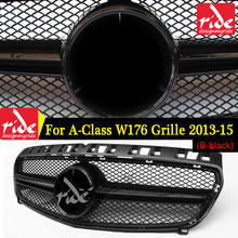 Fit For Mercedes Benz W176 ABS Front Grille A-CLASS A180 A200 A250 A45 AMG Without Emblem Badge Bumper 2013-15