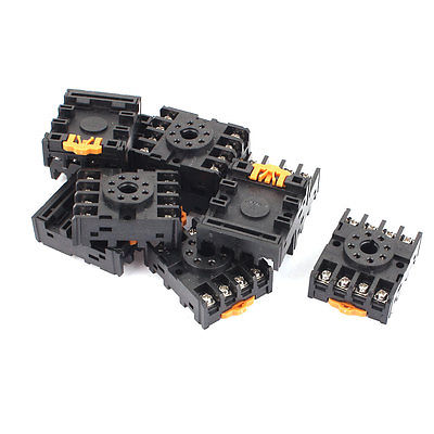 10 Pcs 8 Terminals Relay Socket Holder for MK2P-1 JQX-10F 660v ui 10a ith 8 terminals rotary cam universal changeover combination switch