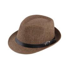 1c344a7909 Moda verano Casual playa sombrero de sol mujeres de los hombres de paja  panamá Jazz sombrero de vaquero del sombrero de Fedora g.