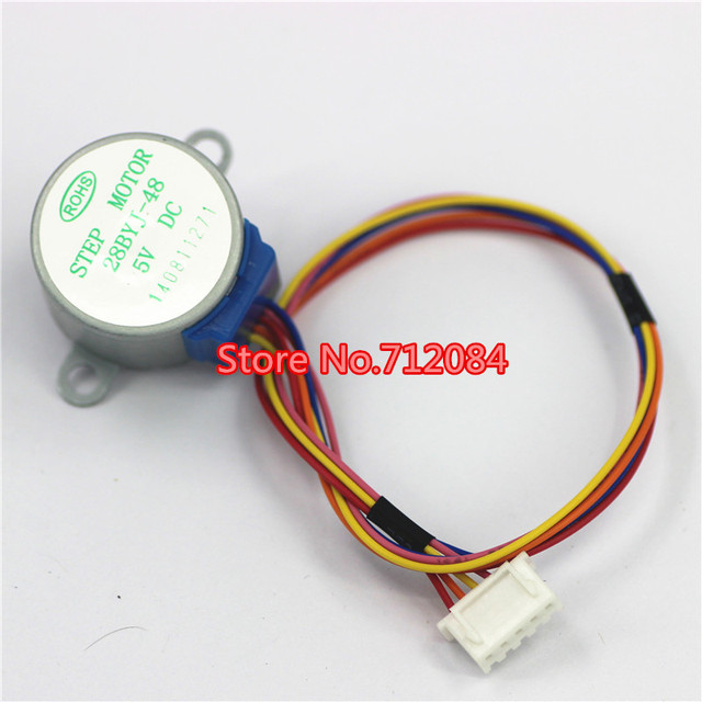 US $0 79 |1/16 5V 4 phase 5 wire stepper motor gear motor step motor 28BYJ  48 5V,Micro Mini Electric Step Motor-in Stepper Motor from Home Improvement