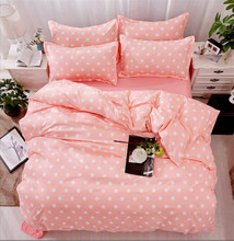 Meijuner Bedding Sets Cotton 3ps /4ps Simple Printing Soft Sheet Pillowcase Duvet Cover Set For Home Hotel Decor Y378