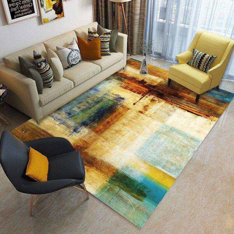 Nordique minimaliste table basse salon tapis imprimé enfants ramper tapis personnalisé chambre tapis de sol en peluche tapis antidérapant - 4