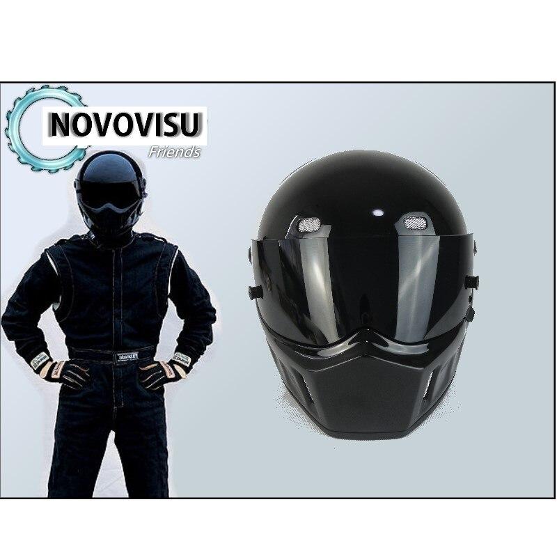 NOVOVISU Haute Qualité (Bluetooth) Première Génération Stig 1 Casque Noir Couleur Avec Noir Visière De Voiture/Moto Casque