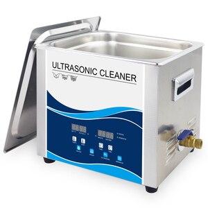 Image 2 - Banho de Limpeza ultra sônica 10L Degas Aquecedor 360 W/240 W 40 KHZ Lavadora Ultra sônica para Carro Motor de Laboratório Eletrônico partes de Óleo De Manchas Dental