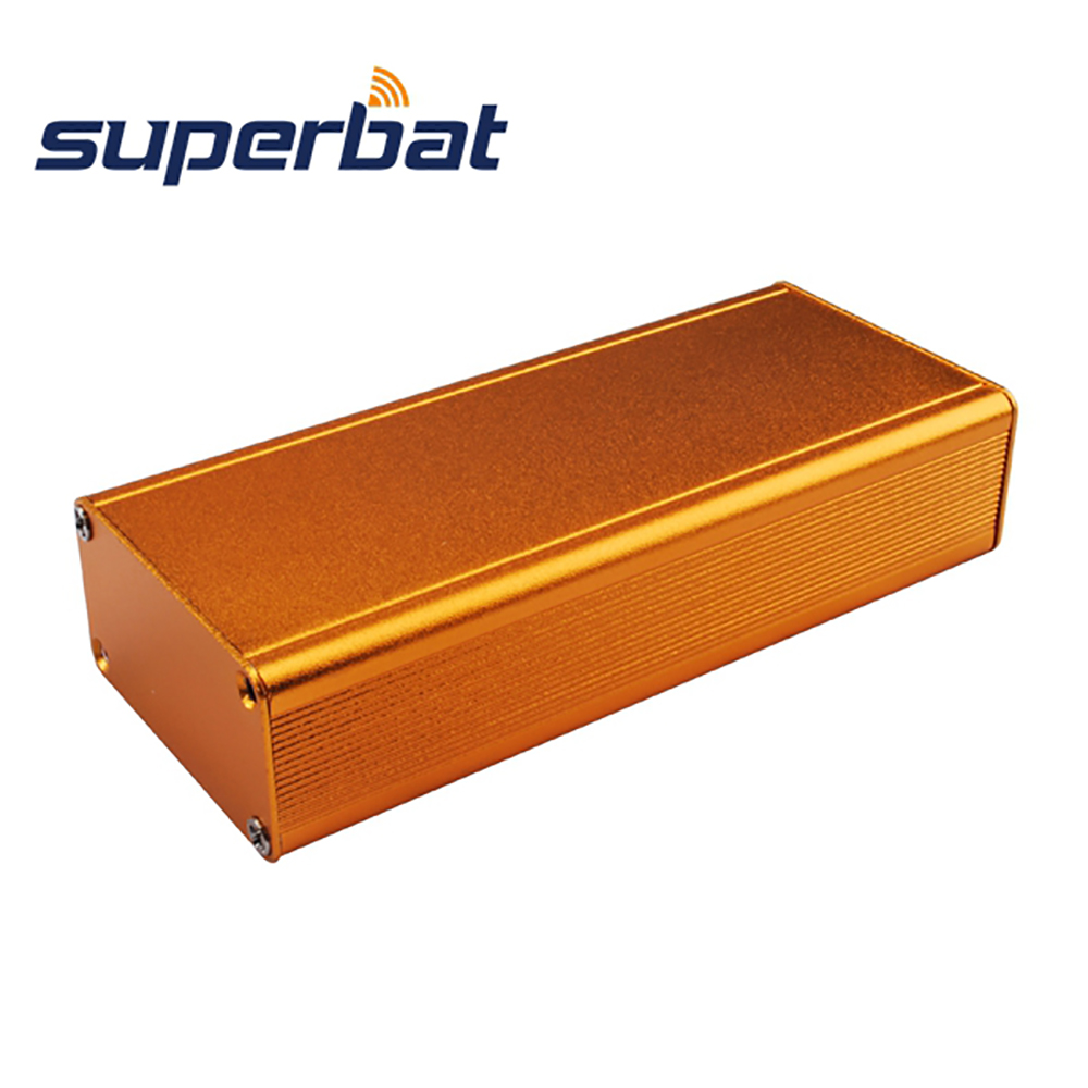 NEW Golden Yellow 110*48*25MM Extruded Aluminum Box Instrument Electronic Enclosure Case PCB Amplifier DIY 4.32″*1.89″*0.98»