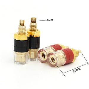 Image 4 - 12pcs Terminal Gold plating Binding Post for Speaker Amplifier Banana Plug