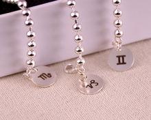 Браслет из серебра 925 пробы с двенадцатью созвездиями