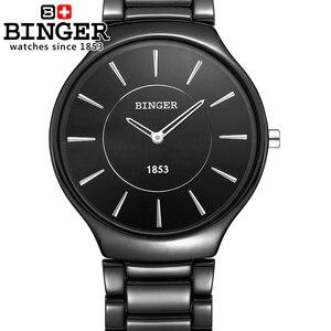 Image 4 - Suisse marque de luxe hommes montres bracelets Binger espace céramique Quartz montre pour hommes amoureux style résistance à leau horloge B8006B 5
