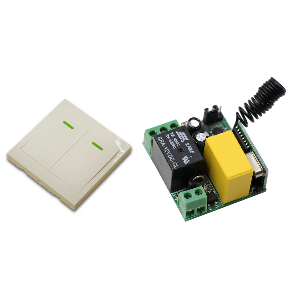 AC 220V 1CH RF Wireless Remote Control Switch Wireless Power Switch Receiver + 86 Wall Transmitter 315MHZ 433Mhz mini stable 10a 220v 1ch rf remote control switch system for led bulb light strips receiver 86 wall panel transmitter