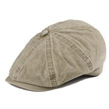 dfe89ee313a0a VOBOOM caqui lavado algodón Newsboy Cap 8 Panel Flat Ivy Cap verano luz  telas Gatsby sombrero Retro cabbies sombreros 160