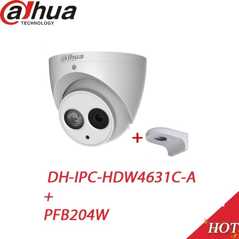 Dahua POE 6Mega Pixel IP camera IPC HDW4631C A H 265 6MP CCTV Dome Mental Security
