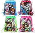 Розничная монстр высокой мультфильм нетканые ткани drawstring рюкзак, школьный рюкзак, сумка для покупок