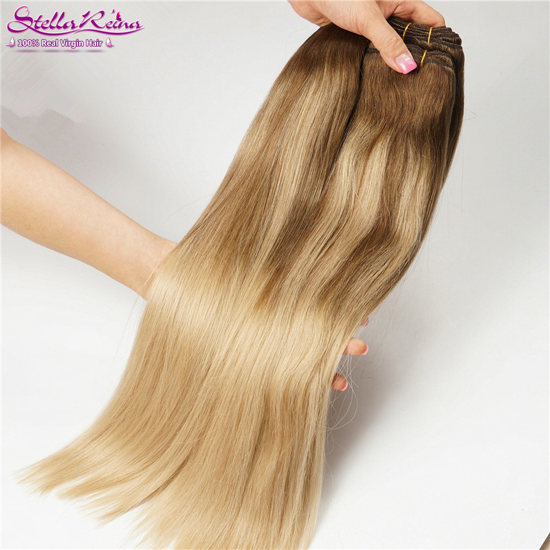 Us 167 0 Balayage Ombre Hair Color 4 18 Mocha Brown Highlights Dirty Blonde Peruvian Hair Straight Weaves 2 Bundles Human Hair Extension On