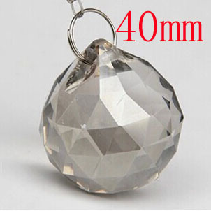 40pcs Lot 40mm Smoked Gray Faceted Crystal For Chandelier Parts Curtain Hanging
