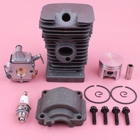 Cylinder Piston Engine Pan Screw Carburetor Kit For Stihl MS180 018 MS 180 Zama Carb Chainsaw Spare Part